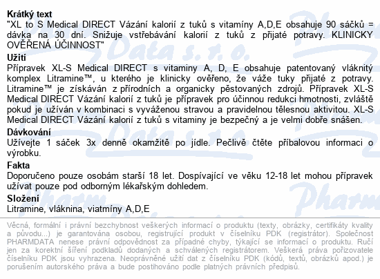 XLS Medical Direct 90 sáčků